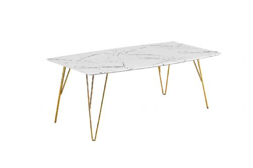 Coffee Table AXE 159 White Marble Effect  By Denelli